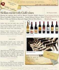 Gulfi wines, food pairing. Visit  www.gulfi.it