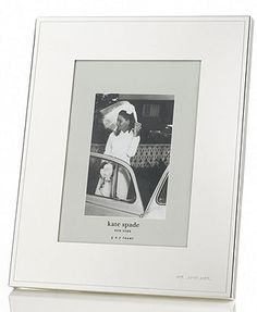 """kate spade new york Darling Point Silver 5\"""" x 7\"""" Frame"""