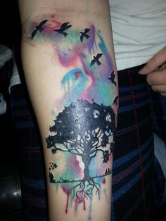 51 Creative Watercolor Tattoos For Fashionable Men & Women Trendy Tattoos, Cute Tattoos, Beautiful Tattoos, Body Art Tattoos, New Tattoos, Small Tattoos, Tattoos For Women, Tattoos For Guys, Tattooed Guys