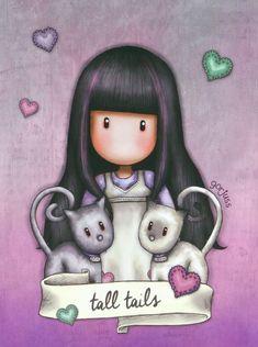 Cute Images, Cute Pictures, Muñeca Diy, Santoro London, Watercolor Cards, Nursery Prints, Illustrations, Cute Drawings, Kawaii Anime