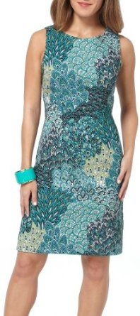 Connected Apparel Peacock Paisley Sleeveless Dress