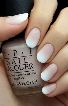 A new take on the French manicure...we love this look!
