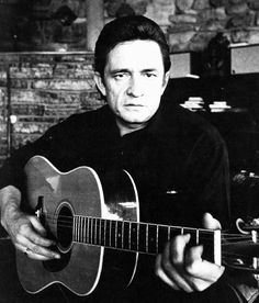 Johnny Cash, the man in black.