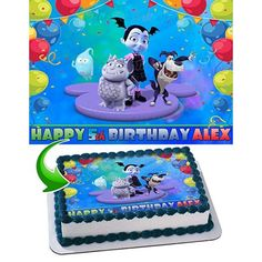Free Shipping. Buy Vampirina Disney Boy Edible Image Cake Topper Personalized Icing Sugar Paper A4 Sheet Edible Frosting Photo Cake 1/4 ~ Best Quality Edible Image for cake at Walmart.com