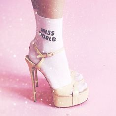 "Розовые носки ""Miss World"""