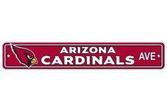 Arizona Cardinals Plastic Street Sign