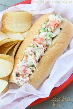 Easy, delicious, and healthy sandwich. #recipe http://www.highheelsandgrills.com/2013/06/lobster-roll.html
