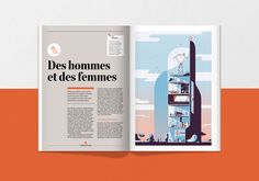 Art direction, layout & cover artwork for EDF's annual report This is an unchosen proposal. Illustration Paris, Editorial Design, Book Design, Art Direction, Proposal, Illustrators, Typography, Design Inspiration, Layout