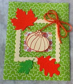 Sizzix Framelits Die Squares, Scallop Set and Lawn Fawn Stitched Leaves