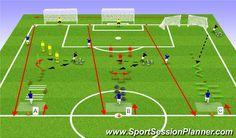 Fútbol Ejercicio del Plan de Sesiones (Color): Circuit 2