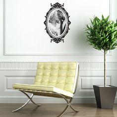 Wall decal Baroque Oval Frame #wallsticker #walldecal #wallart #wallmural #walldecor #homedecor #baroque #renaissance #pictureframe