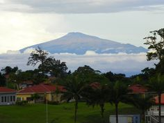 Mt. Cameroon on the mainland, as seen from Bioko Island.