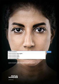 UN Women auto-suggest ads