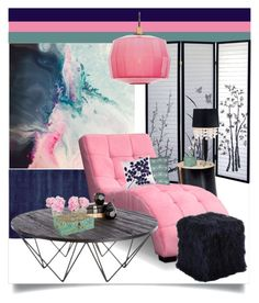 """""""House Spaces 512"""" by tes-gray ❤ liked on Polyvore featuring interior, interiors, interior design, home, home decor, interior decorating, Universal Lighting and Decor, Calvin Klein Home, Sunpan and Token"""