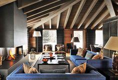 Contemporary luxury ski chalet design by Nicky Dobree Interior Design Awards, Interior Design Studio, Luxury Interior Design, Best Interior, Chalet Interior, Interior Exterior, Chalet Design, House Design, Bohinj