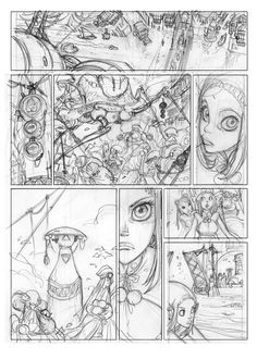 ***: ***SKY DOLL T4*** Comic Book Pages, Comic Book Artists, Comic Artist, Comic Books Art, Understanding Comics, Illustration Sketches, Illustrations, Storyboard Examples, Sky Doll