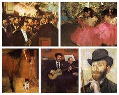 """Edgar Degas was born July 19, 1834 in Paris. He studied at the École des Beaux-Arts and became best known for his paintings of female dancers. """"... he sought to capture fleeting moments in the flow of modern life..."""" (metmuseum.org)"""