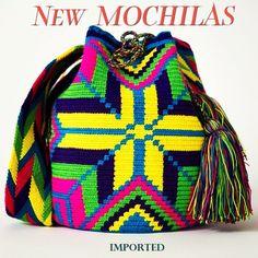 NEW Handmade Mochila Bags! Imported from the Wayuu Region.  www.WayuuTribe.com $149.00