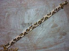 Miyuki Bracelet léopard. Ces bracelets sont faits maison dans une fenêtre de tissage avec belles perles Miyuki Delica 11/0. Tissé avec du fil