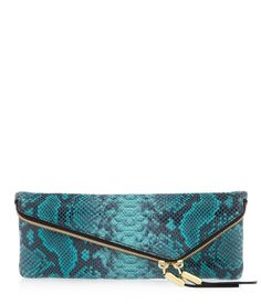 Designer Clothes, Shoes & Bags for Women Leather Clutch, Leather Purses, Leather Handbags, Green Handbag, Green Purse, Rebecca Minkoff Clutch, Alexander Mcqueen Clutch, Green Clutches, Blue Clutch