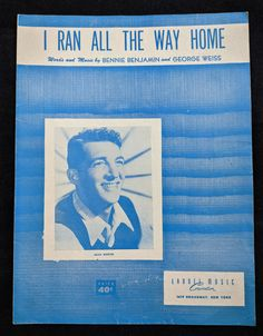 I Ran All the Way Home Vintage Sheet Music Recorded by Dean | Etsy