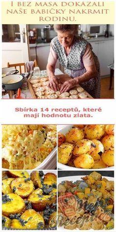 Skvělé recepty našich babiček, na které by se nemělo zapomínat. Brambory byly tradiční jídlo, které se podávalo na milión způsobů - vařené, sťouchané, pečené nebo smažené. I ze základních surovin se dalo uvařit skvělé jídlo, které nasytilo. Speciality našich babiček chutnaly snad každému. Vegetarian Recipes, Cooking Recipes, Healthy Recipes, Eastern European Recipes, Czech Recipes, No Salt Recipes, Avocado Recipes, Food Humor, Food 52