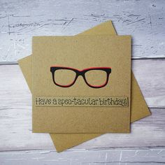 Funny birthday card Spectacles Happy Birthday card Birthday
