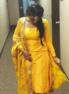 Buy Punjabi Suit Boutique In Patiala in latest styles trending in 2020 - A wide range of Punjabi Suits in stunning new designs at Maharani Designer Boutique. Punjabi Salwar Suits, Yellow Punjabi Suit, Salwar Suits Party Wear, Yellow Suit, Punjabi Dress, Bridal Suits Punjabi, Salwar Kurta, Pakistani Designer Suits, Designer Anarkali
