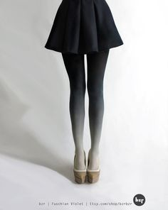 Ombre tights -   I need this.