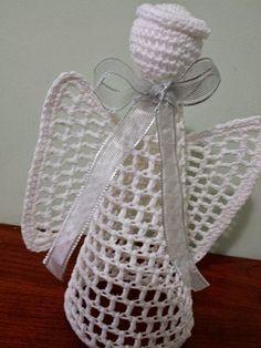 MARILAC ARTESANATOS: Anjos Voando Bom Dia ! Natal ai e nesta festa os anjos não podem faltar.
