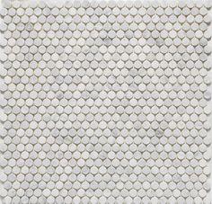 Marble penny tile LotsaDots-Bianco Carrara -Penny Round Tile