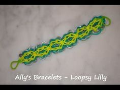 ▶ How to make a Rainbow Loom Loopsy Lilly Bracelet design - YouTube