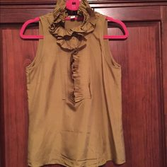 J Crew beautiful satin top It's a stunning J.Crew satin sage green top. Brand new. Size is small close to medium J. Crew Tops Blouses
