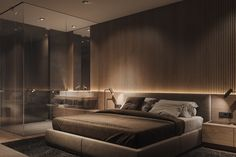 69 trendy bedroom interior design modern head boards – All For Decoration Luxury Bedroom Design, Bedroom Bed Design, Home Room Design, Home Decor Bedroom, Modern Interior Design, Bedroom Designs, Modern Luxury Bedroom, Modern Master Bedroom, Mirror Bedroom