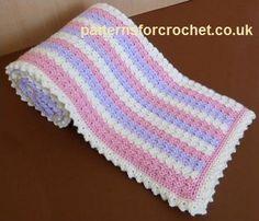 Free crochet pattern pastel baby blanket