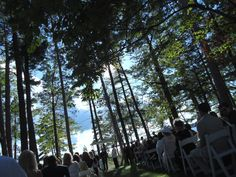 A wedding Ceremony at Bowers Harbor in Traverse City  www.plu-ent.com