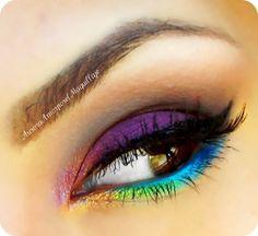 38 Beautiful Rainbow Makeup Ideas Coloring Your Day - Fashionmoe Love Makeup, Simple Makeup, Beauty Makeup, Makeup Looks, Hair Makeup, Awesome Makeup, Rainbow Makeup, Colorful Eye Makeup, Rainbow Dash