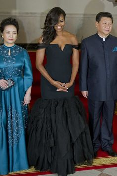 (L-R) Chinese President Xi Jinping's wife Peng Liyuan, first lady Michelle Obama, Chinese President Xi Jinping, and President Barack Obama.