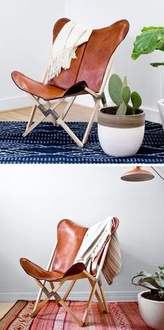 Palermo Tripolina leather chair. Know what I'm going to do to those dilapidated folding travel chairs now!