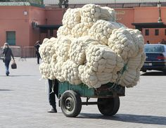 bales of wool yarn