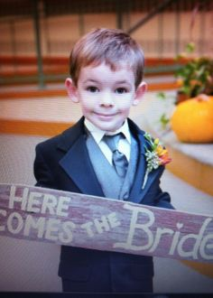 Here comes the bride! My nephew at my wedding! Maybe Someday, Here Comes The Bride, Wedding Ideas, Quotes, Crafts, Quotations, Manualidades, Handmade Crafts, Craft