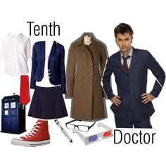 """Possible Costume #1: """"Tenth Doctor, Doctor Who"""" by sonya-lebrun on Polyvore"""