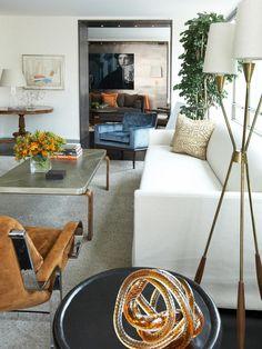 Mid Century Modern Living Room - like the room openings