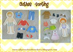 ESL/EFL Preschool Teachers: Clothes Theme sorting