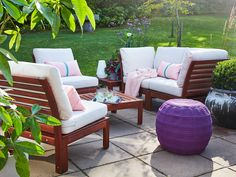 Shop IKEA's wide selection of outdoor accessories, balcony furniture, and patio furniture. Shop looks for any size outdoor space. Outdoor Cushions, Cushions On Sofa, Modul Sofa, Wood Supply, Ikea Family, Outdoor Spaces, Outdoor Decor, Outdoor Seating, Ikea Outdoor