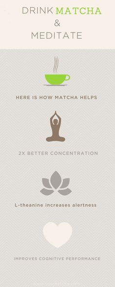 How drinking matcha helps you maintain clear focus, improves your concentration, increases alertness and helps you meditate.