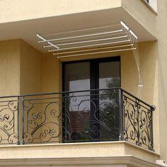 Uscator de rufe cu 5 linii si cu prindere pe tavan.  Acest uscator este fabricat din materiale rezistente la umezeala si soare.  Proiectat pentru instalarea pe tavanului unei terase sau unui alt spatiu. Decor, Deco, Home Decor, Home Deco, Stairs