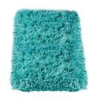 Home Decorators Collection Ultimate Shag Turquoise 8 ft. x 10 ft. Area Rug - 3311470375 - The Home Depot