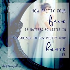 People look at the outward appearance, but the LORD looks at the heart. ~1 Sam 16:7