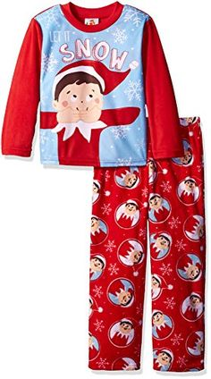 Elf on the Shelf Boys  Big Boys  2-Piece Fleece Pajama Set   b9f4a939d